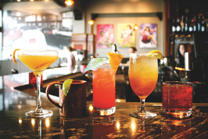 The restaurant Americana serves sophisticated craft cocktails (above), including classic Old Fashioneds, Tequila-based Negronis and several variations on a Moscow Mule.