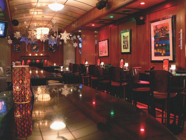 Chicago's Blue Line Lounge & Grill features 22 different Martinis on its cocktail menu and encourages experimentation with weekly specials.