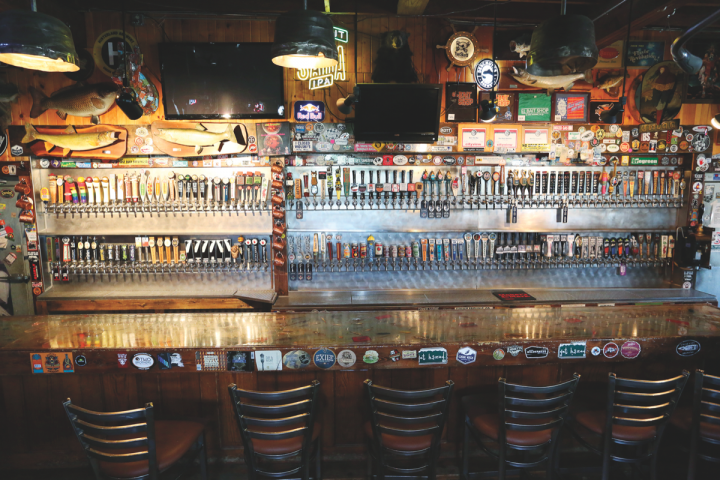 Craft beer is big in Des Moines thanks to a 2010 legal change that lowered taxes on higher-alcohol brews. El Bait Shop (taps pictured) has 182 draft handles and often attracts customers seeking limited-edition labels. Drinkers rally around locally produced options.