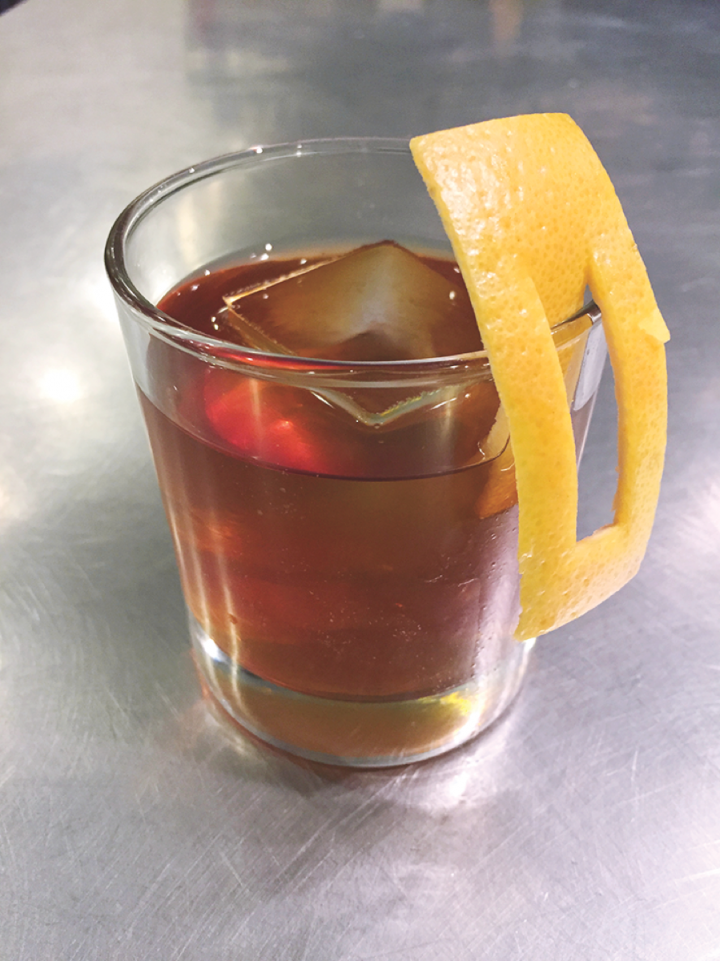 At Dram & Grain, the Bedtime Story features single malt, Sherry, amaro, vermouth and bitters.