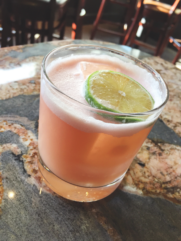 Jack Rose Dining Saloon's Fat Harold cocktail mixes Islay malt with Sherry, Piña Colada shrub and bitters.