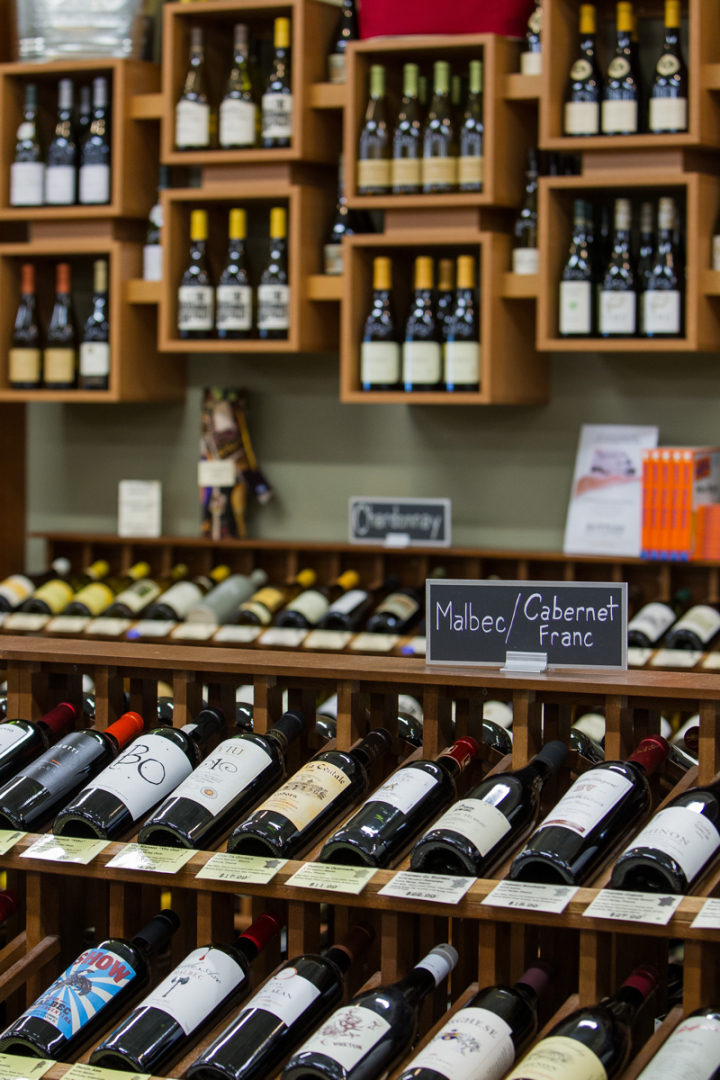 The store's 5,000-SKU wine selection runs the gamut of styles and regions, from Bordeaux to labels from Oregon and California.