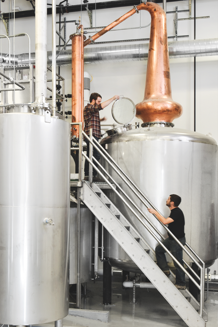 Craft spirits brands of all sizes are innovating and investing. House Spirits Distillery (pictured) of Portland, Oregon, recently tripled production capacity and has plans to grow its flagship Aviation gin to 100,000 cases.