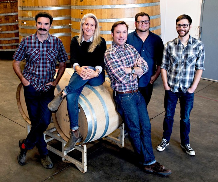 The winemaking team at Rex Hill includes Michael Davies, Cheryl Francis, Sam Tannahill, Don Crank and Olivier Prost.