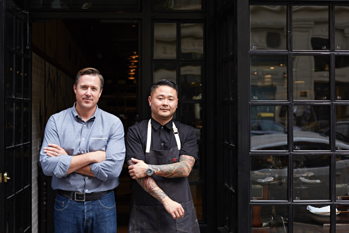 Jed Sanford (left) and Tin Vuong (right) founded  Blackhouse Hospitality Management in 2012.