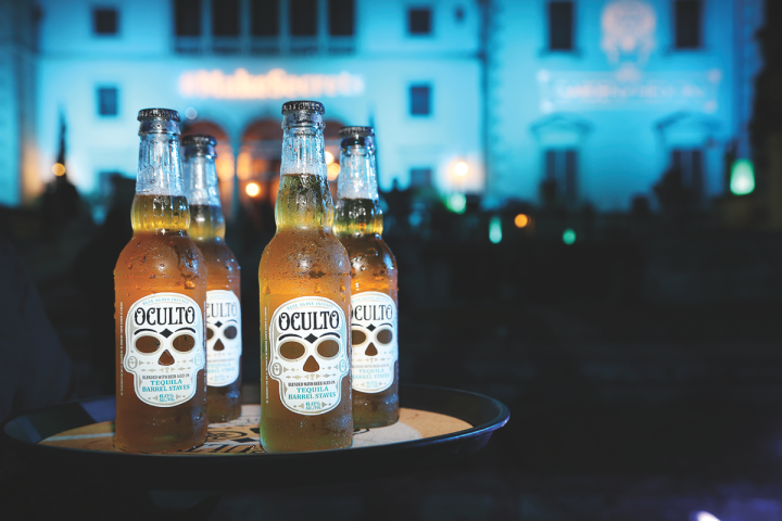 Beers aged in spirits barrels develop new and complex flavors. Anheuser-Busch's Oculto (pictured) is aged on staves from Tequila barrels, adding notes of wood and agave to the Mexican brew.