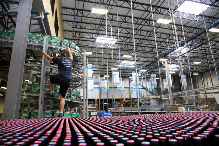 SweetWater's current Atlanta location includes a bottling line (pictured) and on-site taproom. It can expand to a 600,000-barrel capacity,