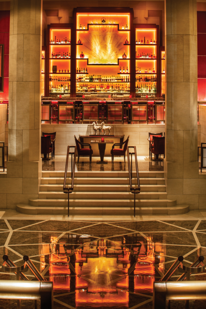Many Four Seasons venues, such as the TY Bar in New York City, incorporate local flavors and ingredients into their menus.