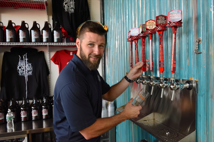 Hard sodas are doing well on-premise, with offerings from brands like Coney Island Brewing Co. (brewery manager Chris Adams pictured) available on draft.