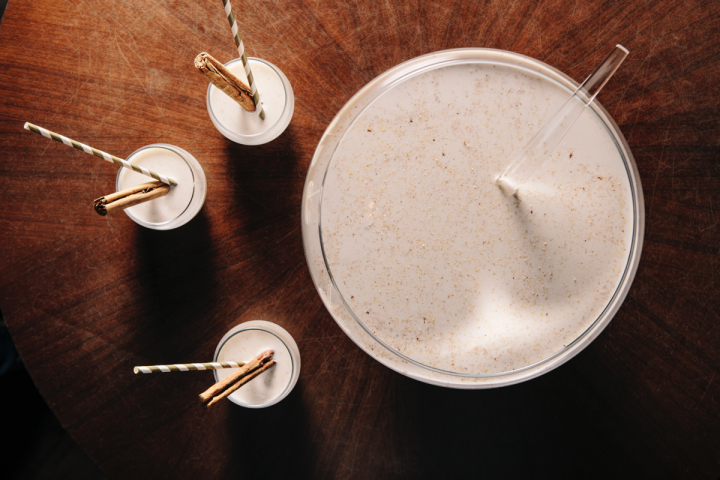 Three Dots and a Dash in Chicago offers the warming spiced rum-based punch Crème d'Irie.