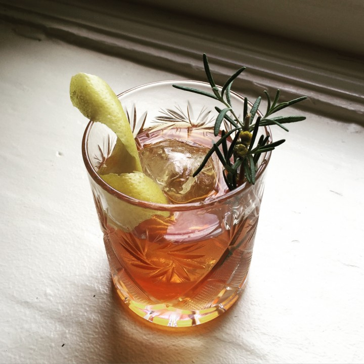 Growing their own produce for cocktails means operators can control freshness. The Dry No More at Nashville's Husk restaurant features whiskey, bitters, sugar and tansy leaf, garnished with rosemary.