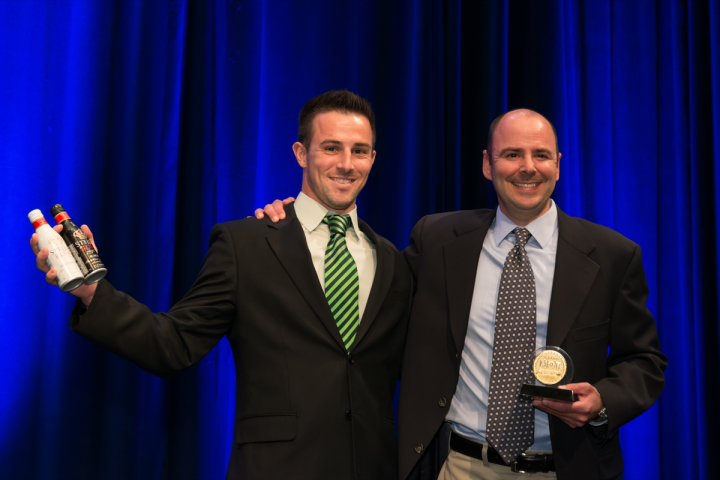 Christopher Riboli (left) and Anthony Riboli of Riboli Family Wine Estates received a Hot Brand award for Stella Rosa.