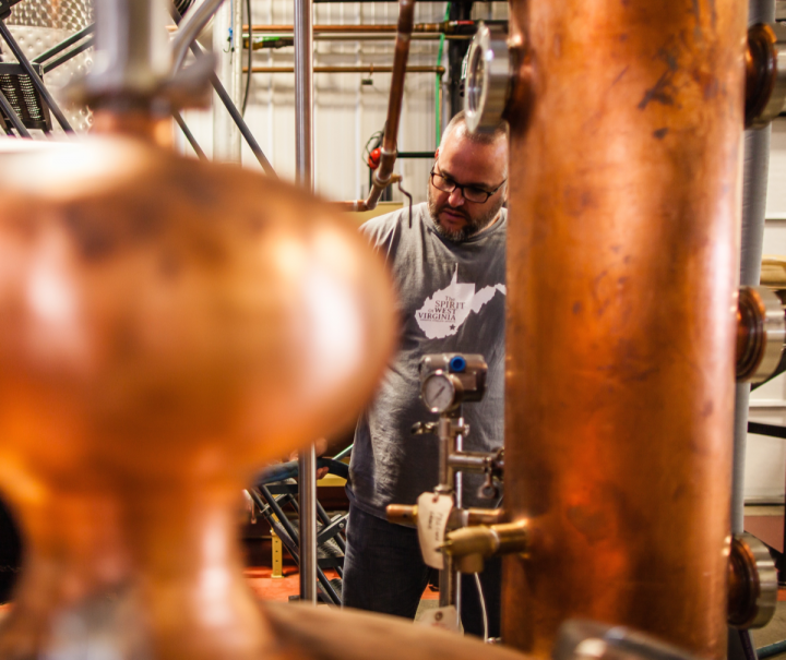Master distiller John Little created Contradiction, which blends a house-distilled wheated Bourbon with sourced 10-year-old Bourbon. He plans to make additional products that blend sourced and self-made whiskies.
