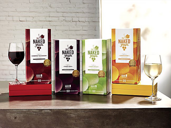 Initially launched in 750-ml. bottles, The Naked Grape has found resounding success with the 3-liter box format.