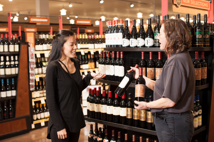 Raley's emphasizes education and employs wine stewards, such as certified sommelier Cathey Birum (right), to guide customers and answer questions.