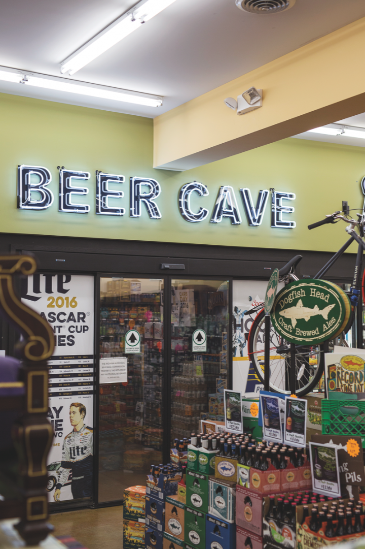 In Indiana, only licensed package stores can sell cold beer, so Payless Liquors invests in coolers and beer caves to attract customers. The chain's beer business is in growth mode, with craft singles driving sales. Mainstream domestic brews are also succeeding.
