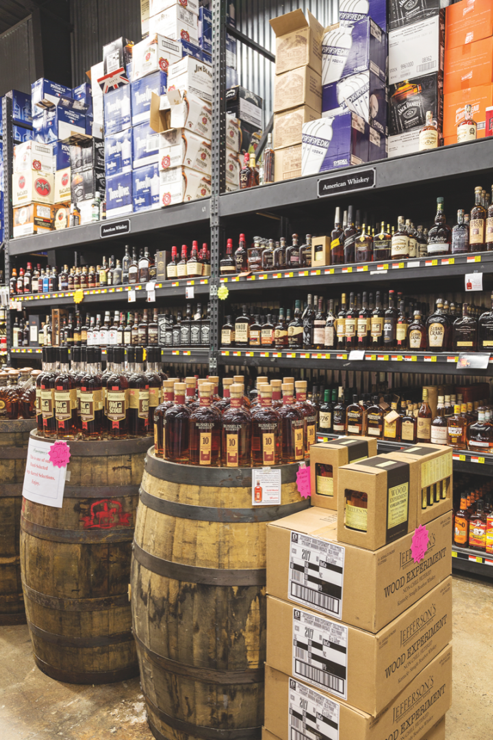 Acquistapace's whisk(e)y selection features a host of retailer-exclusive bottlings.