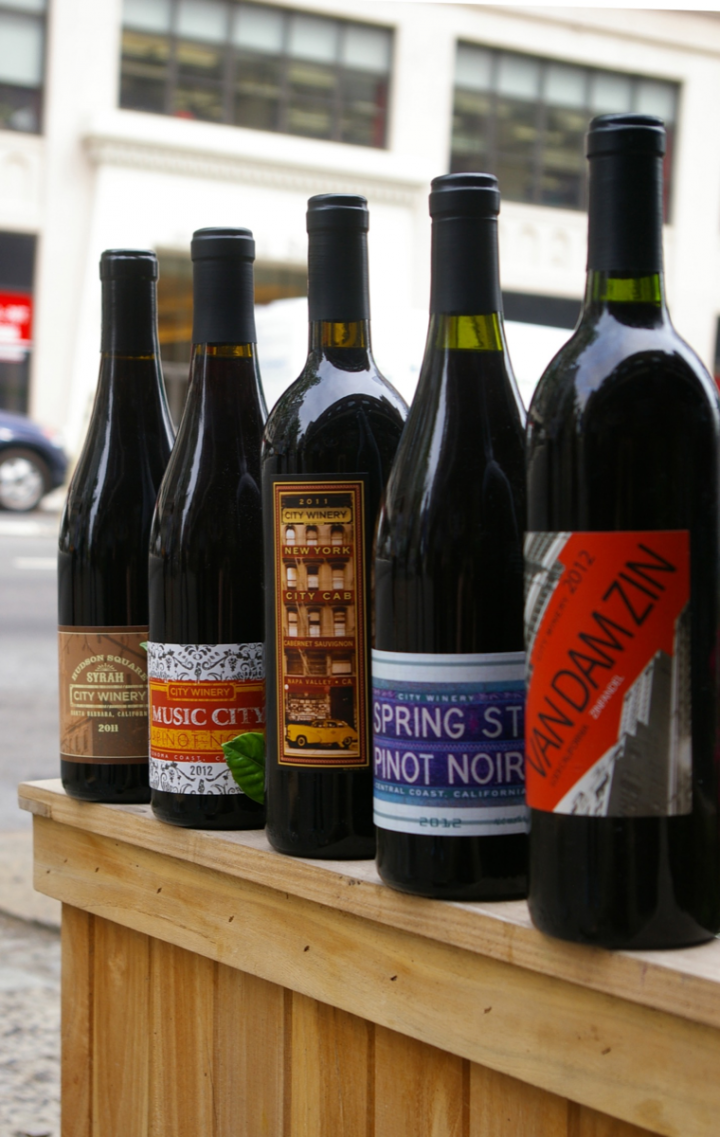 City Winery produces a few dozen wines, available by-the-glass on-site and in bottles at the venues and select retailers.
