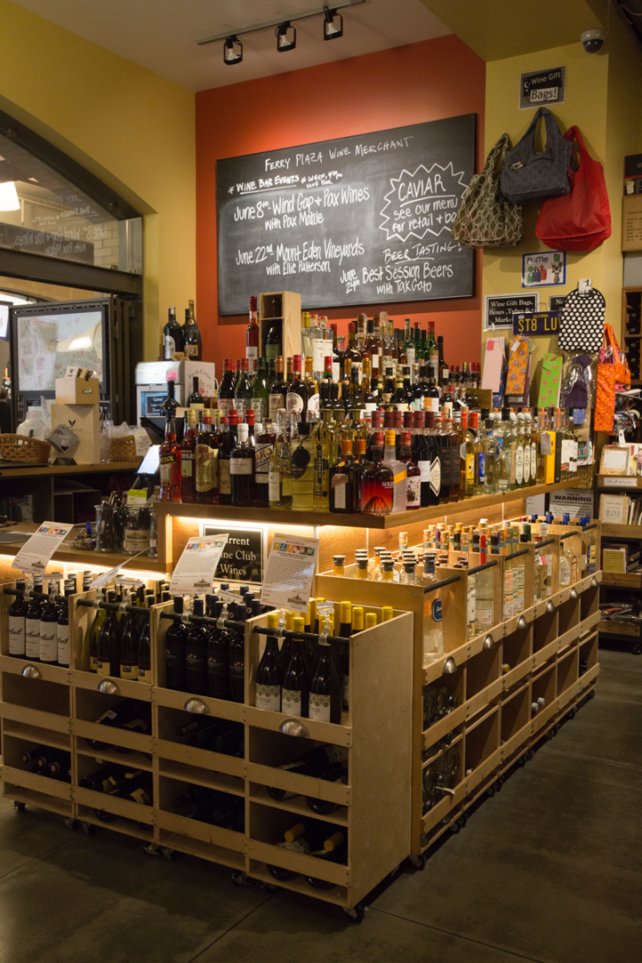 The store's spirits range is small and focuses on artisanal and craft labels.