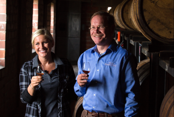 Old Forester global brand ambassador Jackie Zykan and Brown-Forman Corp. master distiller Chris Morris selected the barrels for the 2016 Birthday Bourbon.