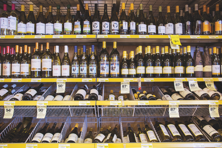 Liquor Barn uses wine ratings in its merchandising (above), which helps drive strong sales for premium-priced bottles.