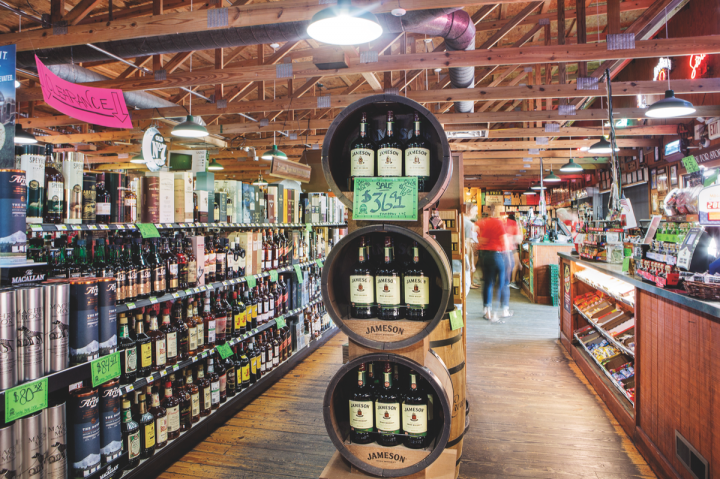Macadoodles offers around 1,500 spirits SKUs, which comprise over 35 percent of sales. Reflecting national trends, the store does a lot of business in craft and specialty spirits, especially whiskies.