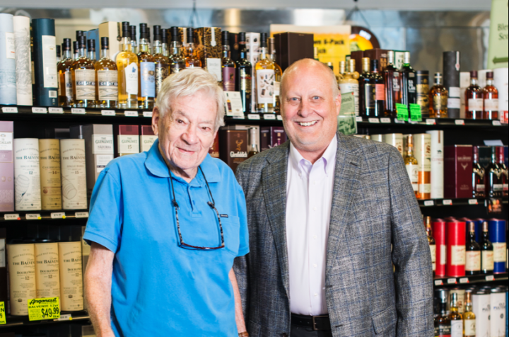 Hank Robinson (left) and Ron Vaughn (right) head Denver's Argonaut Wine & Liquor, one of Colorado's leading retailers. The company has supported the local community through philanthropy for years.
