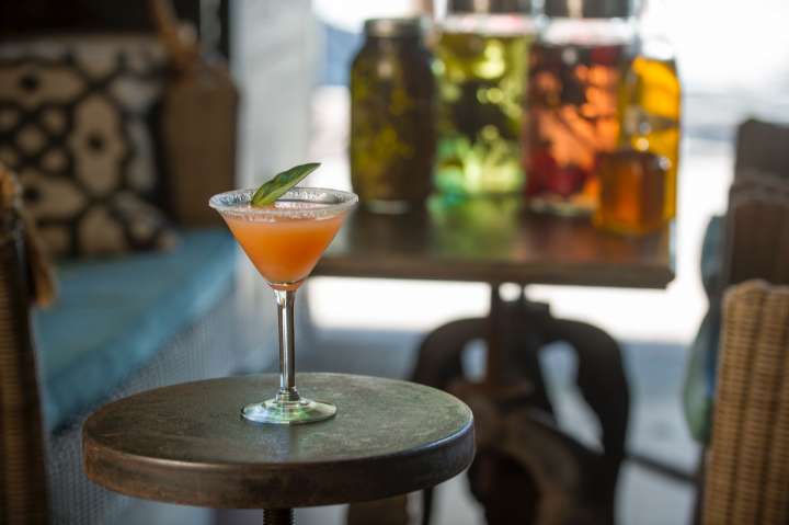 Fresh ingredients and local products shine in contemporary vodka cocktails like the Grapefruit Martini at Harvest Seasonal Kitchen in McKinney, Texas.