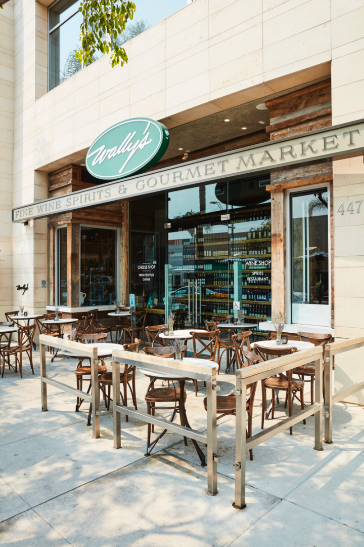 Wally's flagship location in Beverly Hills (pictured) is the model for future growth, housing robust on- and off-premise components.