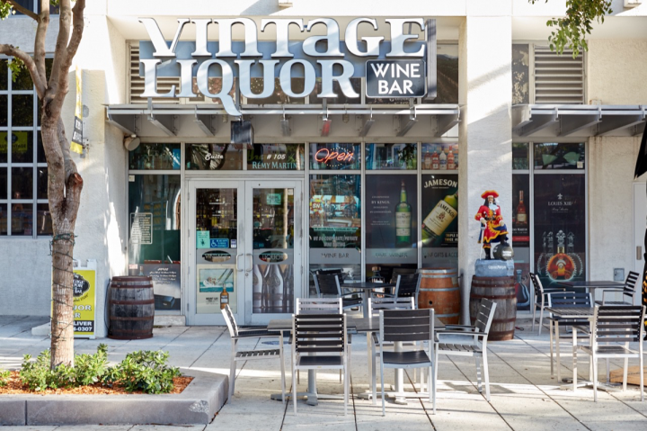 Vintage Liquor's original location is in Miami's affluent Pinecrest neighborhood, with other stores in the developing Midtown (pictured) and Brickell areas. The units range from 2,500 square feet to 3,800 square feet and together did $9 million in sales in 2015.