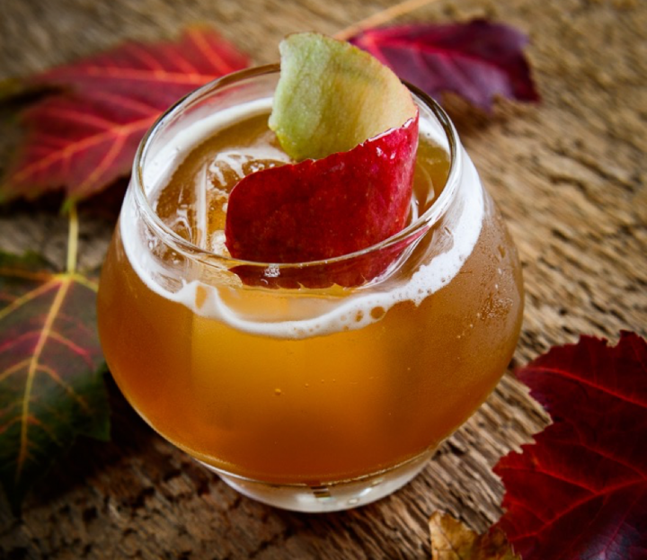 The Vidi Viti Pumpkin cocktail at Gracie's in Providence, Rhode Island, infuses Sons of Liberty Pumpkin Spice whiskey with roasted pumpkin.