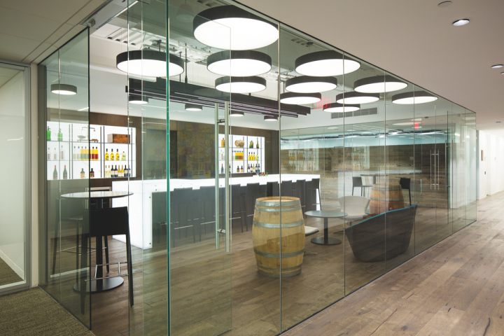The company (headquarters tasting bar pictured) made its name in the wine business, but has increasingly branched out into spirits. It's currently focused on the Redemption whiskey brand, sourced from the MGP distillery in Indiana, as well as Luksusowa Polish vodka.