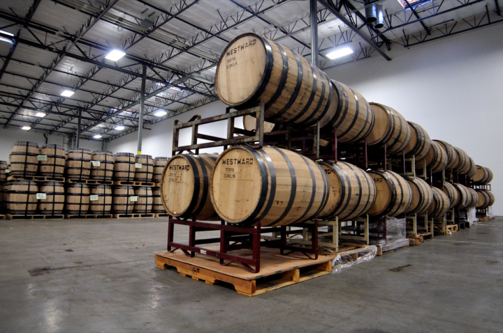 Oregon's House Spirits (barrel warehouse pictured) moved to a bigger distributor when it went national.