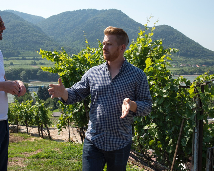 Acclaimed for his single vineyard wines from the Wachau region, Franz Hirtzberger (pictured) harvests grapes four to five times, ferments with natural yeast and pursues purity and flavor.