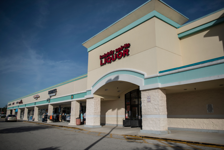 The independently owned Knightly Spirits was founded in 1998 and has five units in the Orlando area (South Orange Blossom Trail location pictured).