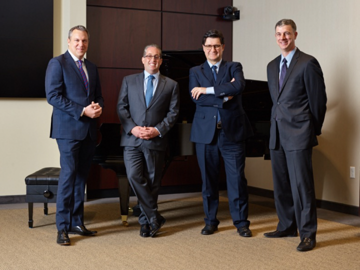 Additional top executives includes (from left) Andrew Smith, Marc Taub, Riccardo Legnaro and Michael Preis.