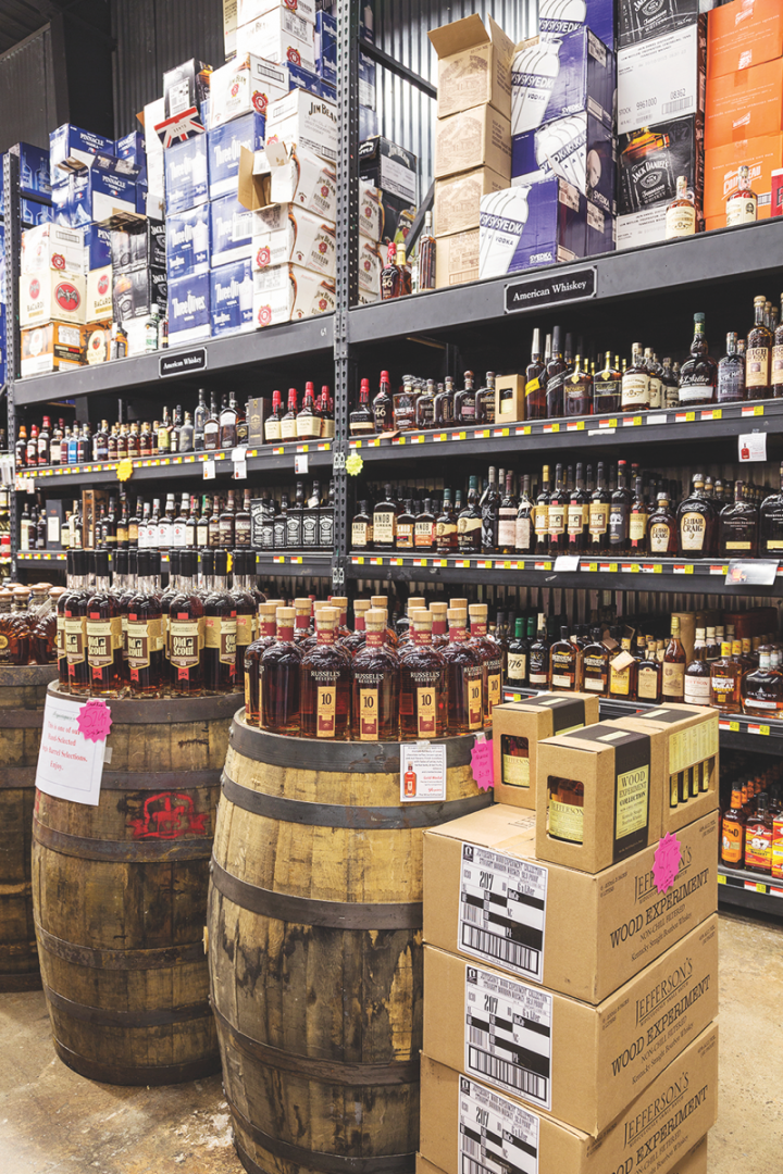 Acquistapace's in New Orleans regularly stocks around two dozen exclusive-barrel selections at a time, led overwhelmingly by Bourbon.