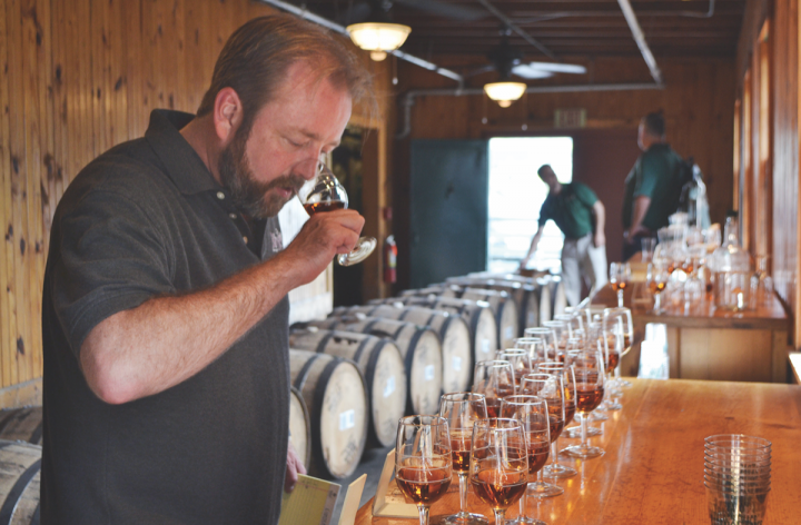 Brett Pontoni of Chicago-based chain Binny's often travels to distilleries like Buffalo Trace to try different barrel samples before choosing which to purchase.