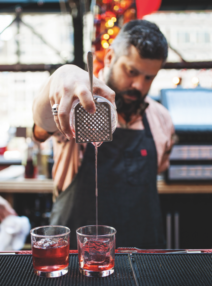 The mixology boom has benefited artisanal liqueurs like Campari, which is essential to the Negroni. The brand's Negroni Week event (pictured) is now in its fifth year.