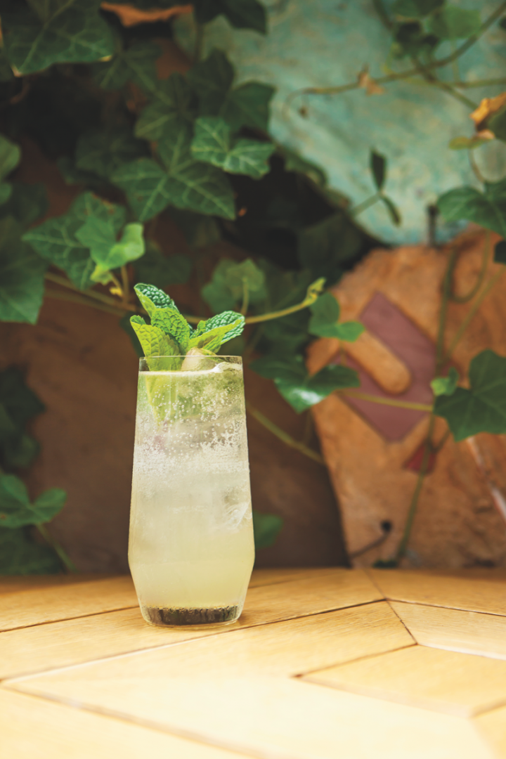 The Flapper's Delight cocktail (above), developed by Julie Reiner for St-Germain, features the elderflower liqueur, gin, lime, mint and club soda. Mixology-friendly brands like St-Germain have been key to the cocktail renaissance of recent years.