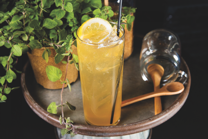 DeKuyper, the market's leading liqueur brand since 2013, offers dozens of flavors, allowing the brand to benefit from the rise in both new drinks and classics. The Derby Fizz (above) blends DeKuyper Orange Curaçao liqueur with Jim Beam Rye whiskey, lemon and soda.