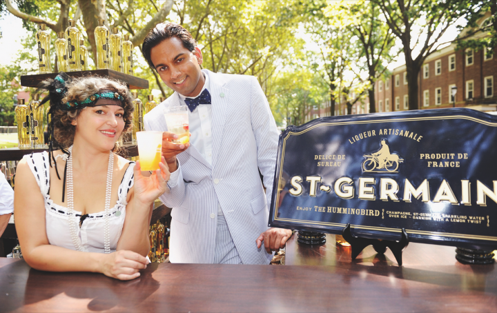 Many fast-growing liqueurs only offer single flavors, usually positioned at a super-premium price point. St-Germain in particular has won favor with mixologists nationwide, and events like the St-Germain Jazz Age Lawn Party (above) help build the brand with consumers.