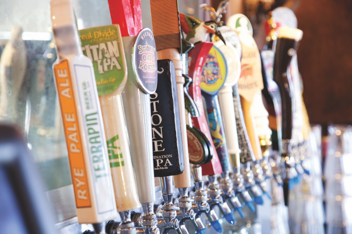 Concepts like the PJW Restaurant Group's The Pour House (taps above) consistently offer at least one fruit-influenced brew on the menu at all times.