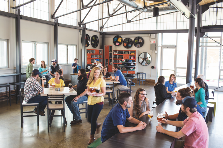 New Belgium Brewing Co. (Asheville, North Carolina, tasting room above) exceeded its own sales expectations with Citradelic Tangerine IPA last year. The company expects demand for fruit beers to continue.
