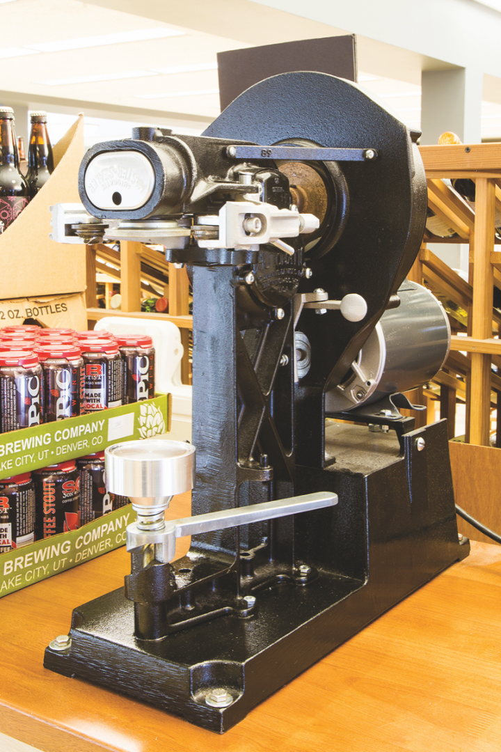 The University Avenue location recently added a Crowler machine (pictured), allowing customers to take home fresh draft beer.