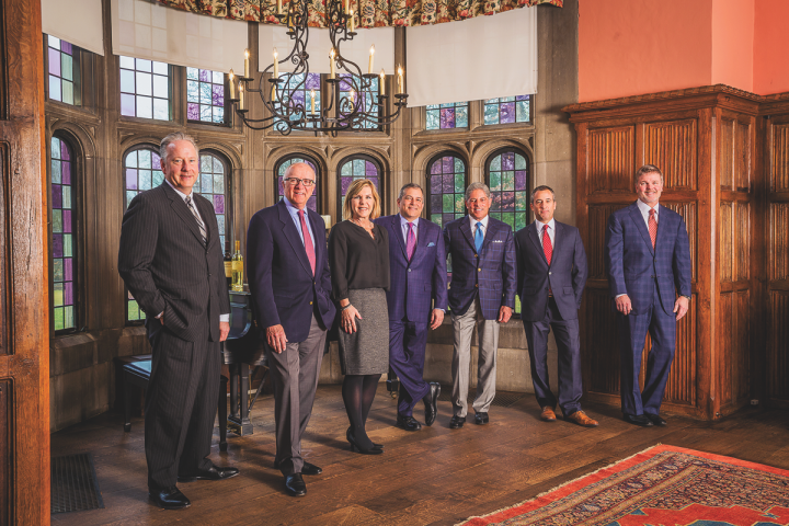 Terlato Wine Group's executive leadership team includes (from left) Ed Pitlik, John Scribner, Sandra LeDrew, John Terlato, Bill Terlato, Dave Lane and David Ballew.