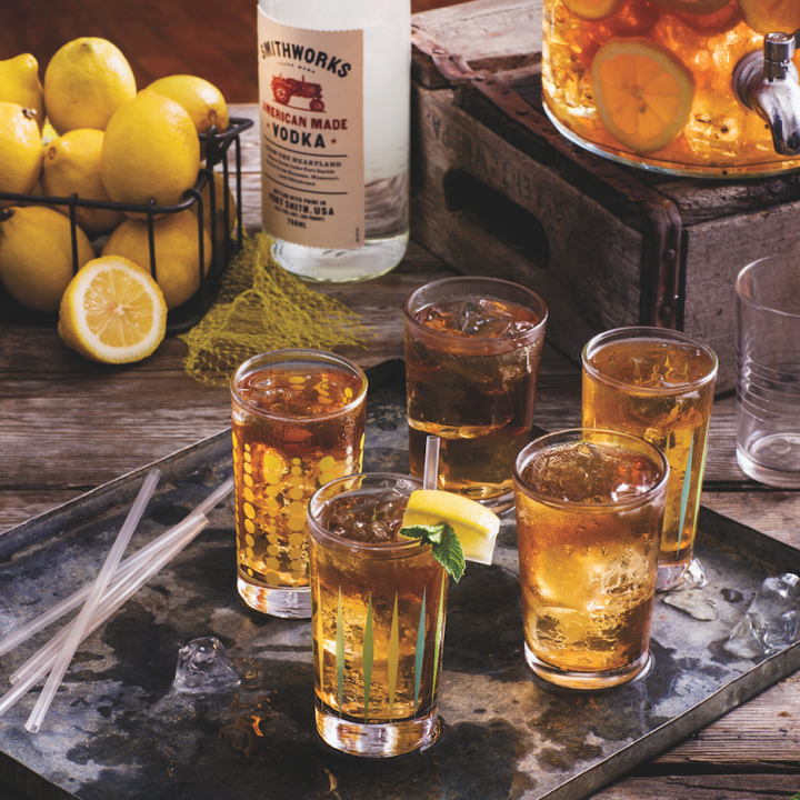 Targeting the locavore trend, Smithworks vodka (Sweet Tea cocktail pictured) sources ingredients near its Arkansas distillery.