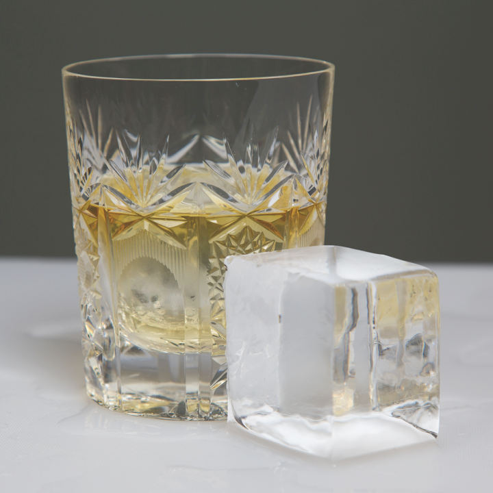 At JustIce (cube pictured), specialized ice allows for controlled dilution and enhanced flavor, as well as a heightened sense of luxury. The rise of upscale cocktails has contributed to the specialty ice boom.