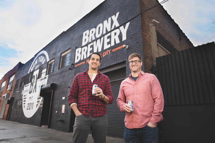 At New York City's Bronx Brewery, cofounder and general manager Chris Gallant (left) and cofounder and head brewer Damian Brown (right) aim to produce approachable beers.