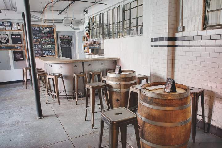 At the brewery, opened in South Bronx in late 2014, consumers can try brews at the on-site tasting room (pictured).